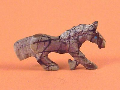 Carol Martinez-Picasso Marble Horse-Zuni Fetish-Native American-Stone Carving