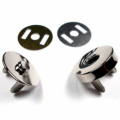 New 20Pcs18MM MAGNETIC STEEL CLASPS SNAPS FASTENERS FOR BAGS PURSE CLOTHING UK