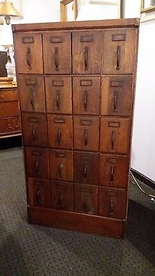 Antique Oak Filing / Storage / Apothecary / Sewing Pattern Cabinet