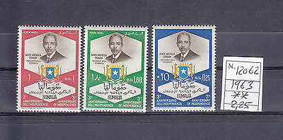 1963 The 3rd Anniversary of Independence - Arms in Blue and Yellow somalia