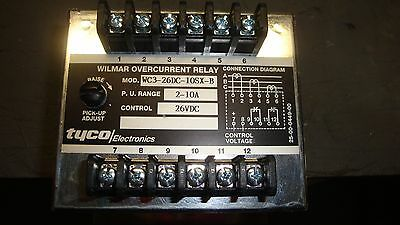 Tyco Wilmar Overcurrent Relay Wct3 26Dc 10Sx B 26 Vdc Free Shipping
