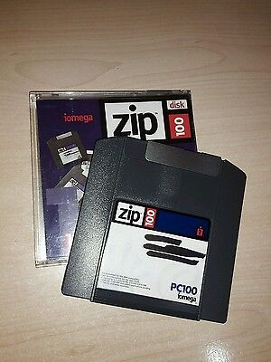 10x Iomega ZIP-Disk 100 MB PC, Iomega Zip Disk 100MB PC Format, used diskette