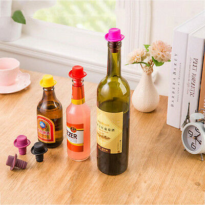 Silicone Rubber Wine Beer Bottle Stopper Cap Cover Sealer Home Kitchen Tool