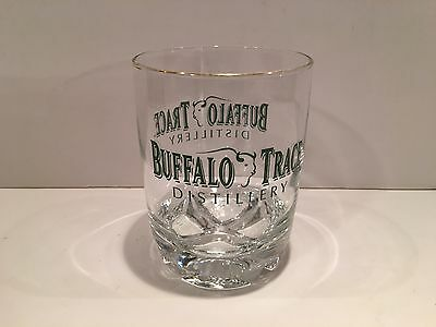 Large Buffalo Trace Distillery Rock Glass with Gold Rim