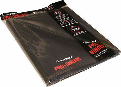 Ultra Pro 9-Pocket Black Binder 82600 - 20 Trading Card Pages Hold 360 Cards NEW