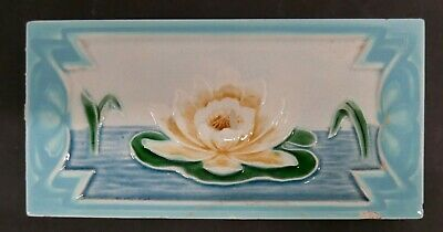 Antique Tile with Water Lily