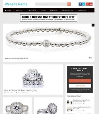 Established Jewellery Store Online Business Website For Sale Mobile Friendly