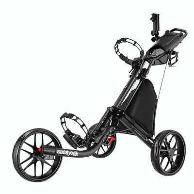 CaddyTek CaddyLite EZ-Fold 3 Wheel Golf Buggy / Push Cart - Dark Grey