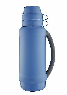 Thermos Premier 34 Glass Lined Vacuum Flask Gentian Blue 1.0L - 050636 Drinks
