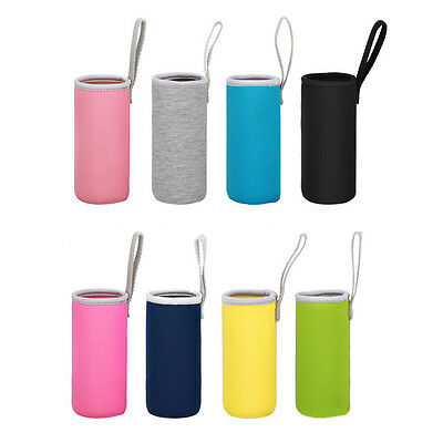 550ml Sports Water Bottle Cup Cover Cooler case Thermos Insulator Pouch Holder