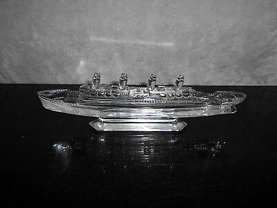 Waterford Crystal Of What Look Like The Titanic Or Rms Olympic.