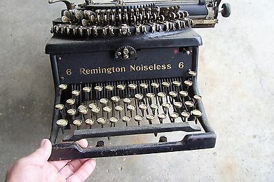 Antique Vintage Typewriter -- REMINGTON NOISELESS 6 -- Needs Work, Sold As Is
