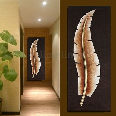 Leaves Modern Abstract Canvas Painting Print Home Wall Art Picture Unframed UK