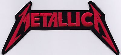 METALLICA - RED DIE CUT LOGO - IRON or SEW ON PATCH