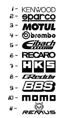 11 Car Sponsor Decal Pack! JDM Racing Sticker Vinyl Decal Windshield Window