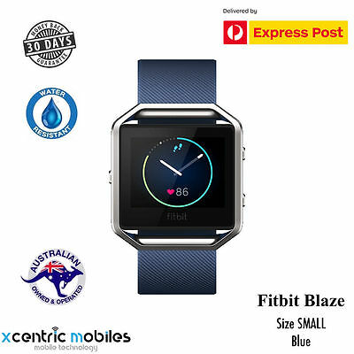 FITBIT BLAZE - BLUE SMALL - ACTIVITY TRACKER - SEALED - Free Express Shipping