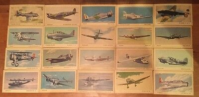 COMPLETE SET of 40 Tydol Flying A Gas Veedol Motor Oil Trading Card 1940's
