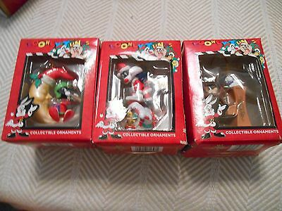 3 Looney Tunes Holiday Ornaments- Taz, Sylvester and Marvin, Matrix, 1997