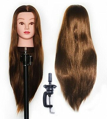 Hairdressing Training Head 100% Synthetic Hair Mannequin Styling Dolls Head