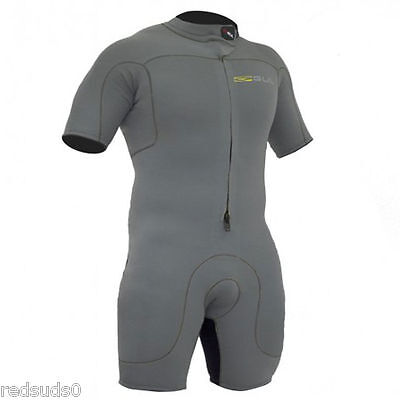 Gul Code Zero Mens Shortie Wetsuit Grey 3/2Mm Watersports Surf Sail L Xl Xxl
