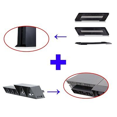 PS4 External Super Cooling Fan & Stand Holder Base Kit For SONY PS4