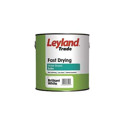 Leyland Trade Fast Drying Water Based Satin Brilliant White 2.5L