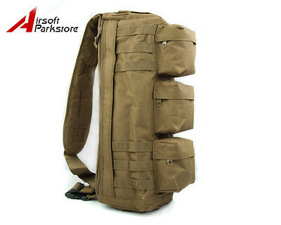 Tactical MOLLE Assault Go Bag Shoulder Sling Military / Gym Hiking Camping Pack