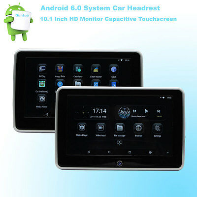 6.0 Android Headrest Car HD 10.1 Inch Monitor 4Core WIFI Wireless Miracast Phone
