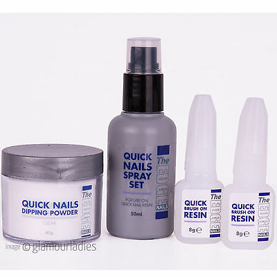 THE EDGE NAILS Quick Nails Dipping Trial Kit for Acrylic with Resin Activator
