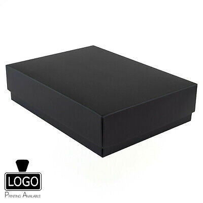 Luxury Matt Self Assembly Flat Pack Gift Box A4 A5 A6 (Printing Available £)