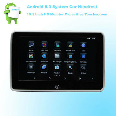 CarHeadrest Android 6.0 HD 10.1 Inch Monitor 4Core WIFI Wireless Miracast Phone