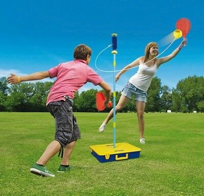 Swingball Outdoor Game Set Garden Swing Ball Kids Play Wide Base Mookie New