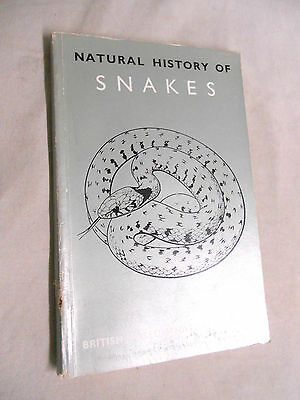 Vintage PAPERBACK Book - 1965 NATURAL HISTORY OF SNAKES by H W Parker