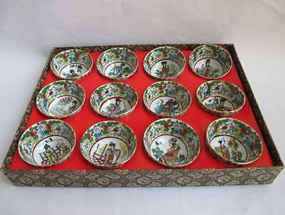 Chinese classic a dream of red mansions glaze bowls tea set 12 characters