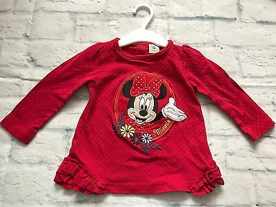 Baby Girls Clothes 12-18 Months-Cute Disney Minnie T Shirt Top