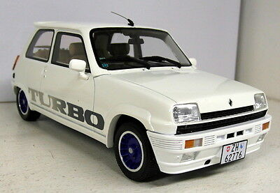 Otto 1/18 Scale - Renault 5 Gordini Turbo white Resin sealed Model Car