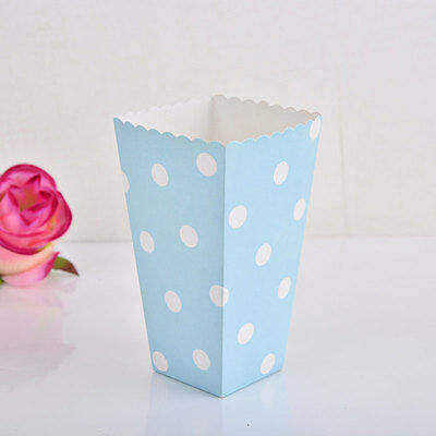 12pcs Popcorn Polka Dots Paper Boxes Candy Treat Box Favour Bags Birthday Party