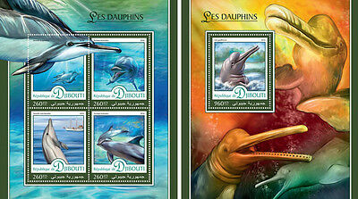 Maldives Dolphins Marine Fauna Mnh Stamp Set Stamps Topical Stamps