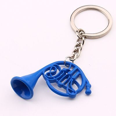 How I Met Your Mother Art Dome Blue French Horn Keychain Key Ring TV Jewelry