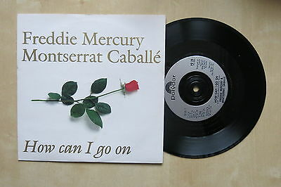 """FREDDIE MERCURY & MONTSERRAT CABELLE How Can I Go On UK 7"""" in picture sleeve"""