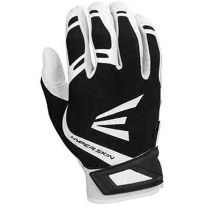 Easton ZF7 VRS Hyperskin Fastpitch Batting Gloves White/Black A121361 MEDIUM,new