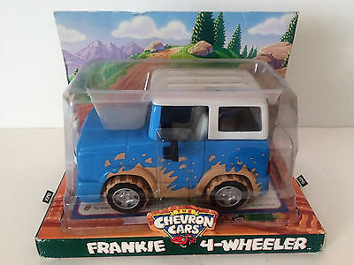 The Chevron Cars FRANKIE 4-WHEELER Blue w/Mud Splashes - NIB