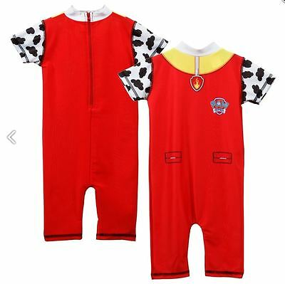Childrens Boys Paw Patrol Swimming Costume Marshall Swimsuit Uv Protective Suit