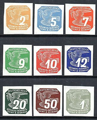 GERMANY Nazi Occupation BOHEMIA MORAVIA 1943 Newspaper Stamps Issue Fine MNH Set
