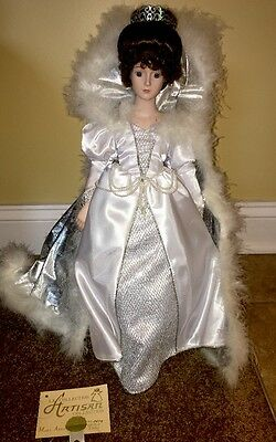 Snow Queen Artisan Collection Bisque Porcelain Doll COA Mary Anna #479 White New