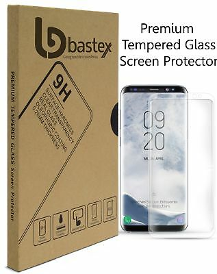 For Samsung Galaxy S8 Tempered Glass Screen Protector with Clear Face Plating