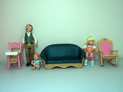 Fisher Price Loving Family Doll house figurine baby chair rocker furniture sofa