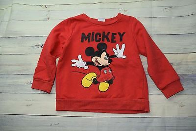 Pullover Disney 12-18 80/86 rot Mickey Mouse