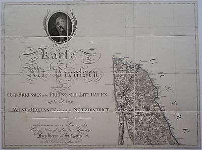 Lithuania 1803 Klaipeda Large Rare Original 3 Antique Maps Prussia Schrötter