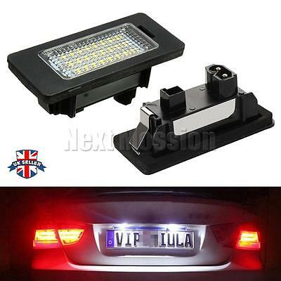 2x LED License Number Plate Lights Lamp for BMW 1 2 3 5 X Series E39 E61 E90 E92